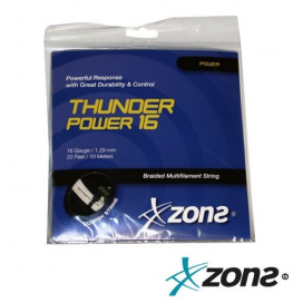 CUERDA SQUASH ZONS THUNDER POWER 16 WHITE (1.29mm)