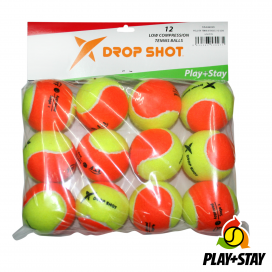 PELOTAS STAGE 2 PLAY+STAY X12 DROPSHOT