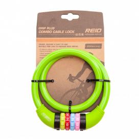 Cable con Candado REID GRIP PLUS (Combinación) Azul Celeste