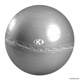 K6 Balón Yoga 75cm Gris