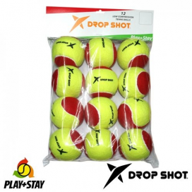 PELOTAS STAGE 3 PLAY+STAY X 12 DROPSHOT